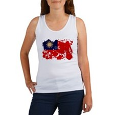 Taiwan Flag Women's Tank Top