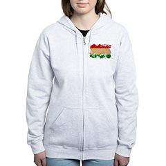 Tajikistan Flag Zip Hoodie