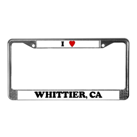 I Love Whittier License Plate Frame