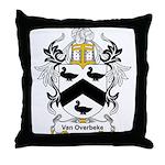 Van Overbeke Coat of Arms Throw Pillow
