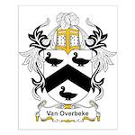 Van Overbeke Coat of Arms Small Poster