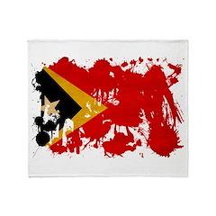 Timor Leste Flag Throw Blanket