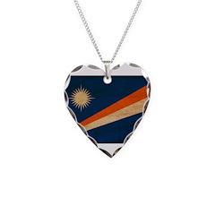 Marshall Islands Flag Necklace