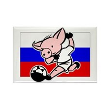 Russia Soccer Pigs Rectangle Magnet