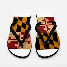 Maryland Flag Flip Flops
