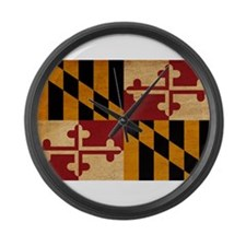Maryland Flag Large Wall Clock