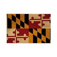 Maryland Flag Rectangle Magnet (100 pack)