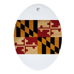 Maryland Flag Ornament (Oval)