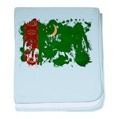 Turkmenistan Flag baby blanket