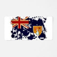 Turks and Caicos Flag Aluminum License Plate