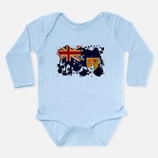 Turks and Caicos Flag Long Sleeve Infant Bodysuit