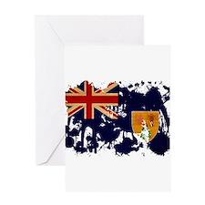 Turks and Caicos Flag Greeting Card
