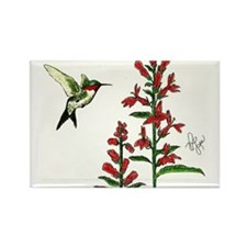 """HUMMINGBIRD"" Rectangle Magnet"