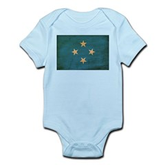 Micronesia Flag Infant Bodysuit