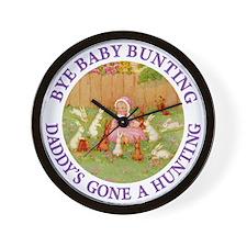 Bye Baby Bunting Wall Clock