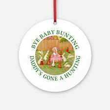 Bye Baby Bunting Ornament (Round)