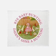 Bye Baby Bunting Throw Blanket