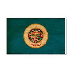 Minnesota Flag Car Magnet 20 x 12