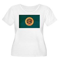 Minnesota Flag Women's Plus Size Scoop Neck T-Shir