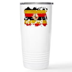 Uganda Flag Stainless Steel Travel Mug