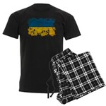 Ukraine Flag Men's Dark Pajamas