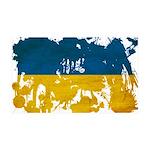Ukraine Flag 38.5 x 24.5 Wall Peel