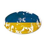 Ukraine Flag 38.5 x 24.5 Oval Wall Peel