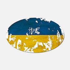 Ukraine Flag 22x14 Oval Wall Peel