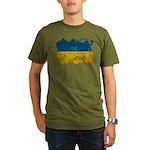 Ukraine Flag Organic Men's T-Shirt (dark)