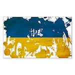 Ukraine Flag Sticker (Rectangle 50 pk)