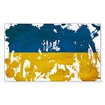 Ukraine Flag Sticker (Rectangle 10 pk)