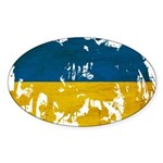 Ukraine Flag Sticker (Oval 10 pk)