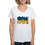 Ukraine Flag Women's V-Neck T-Shirt