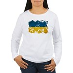 Ukraine Flag Women's Long Sleeve T-Shirt