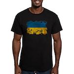 Ukraine Flag Men's Fitted T-Shirt (dark)