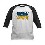 Ukraine Flag Kids Baseball Jersey