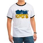 Ukraine Flag Ringer T