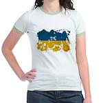 Ukraine Flag Jr. Ringer T-Shirt