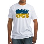 Ukraine Flag Fitted T-Shirt