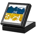 Ukraine Flag Keepsake Box