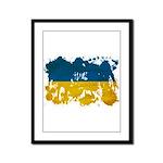 Ukraine Flag Framed Panel Print
