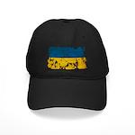 Ukraine Flag Black Cap
