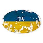 Ukraine Flag Sticker (Oval)