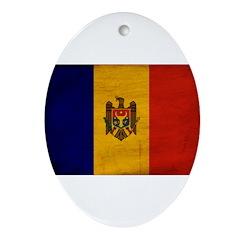 Moldova Flag Ornament (Oval)
