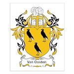 Van Oosten Coat of Arms Small Poster