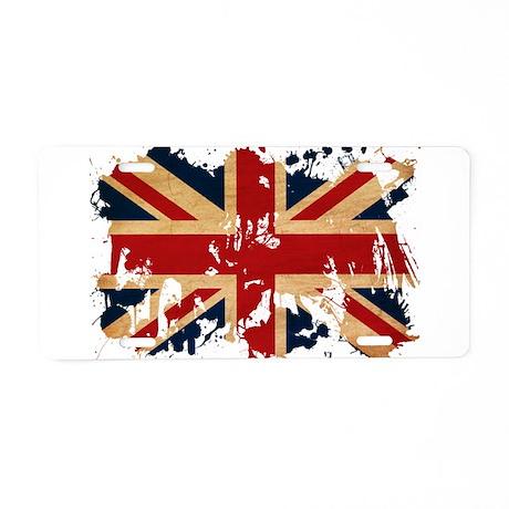 United Kingdom Flag Aluminum License Plate
