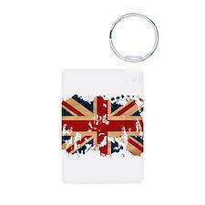 United Kingdom Flag Aluminum Photo Keychain