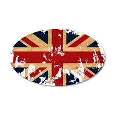 United Kingdom Flag 22x14 Oval Wall Peel