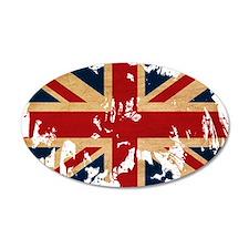United Kingdom Flag 22x14 Oval Wall Peel