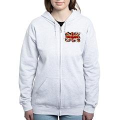 United Kingdom Flag Zip Hoodie